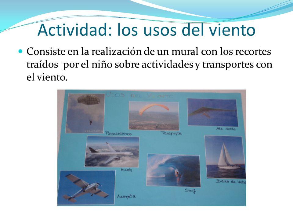 Actividad: los usos del viento