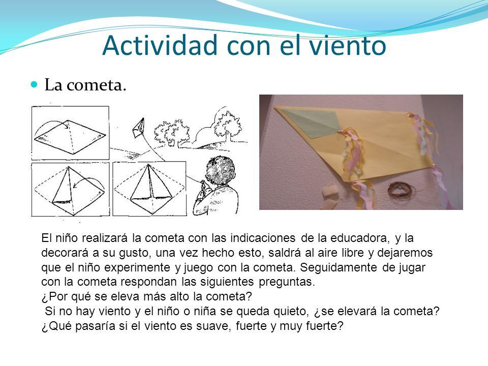 Actividad con el viento