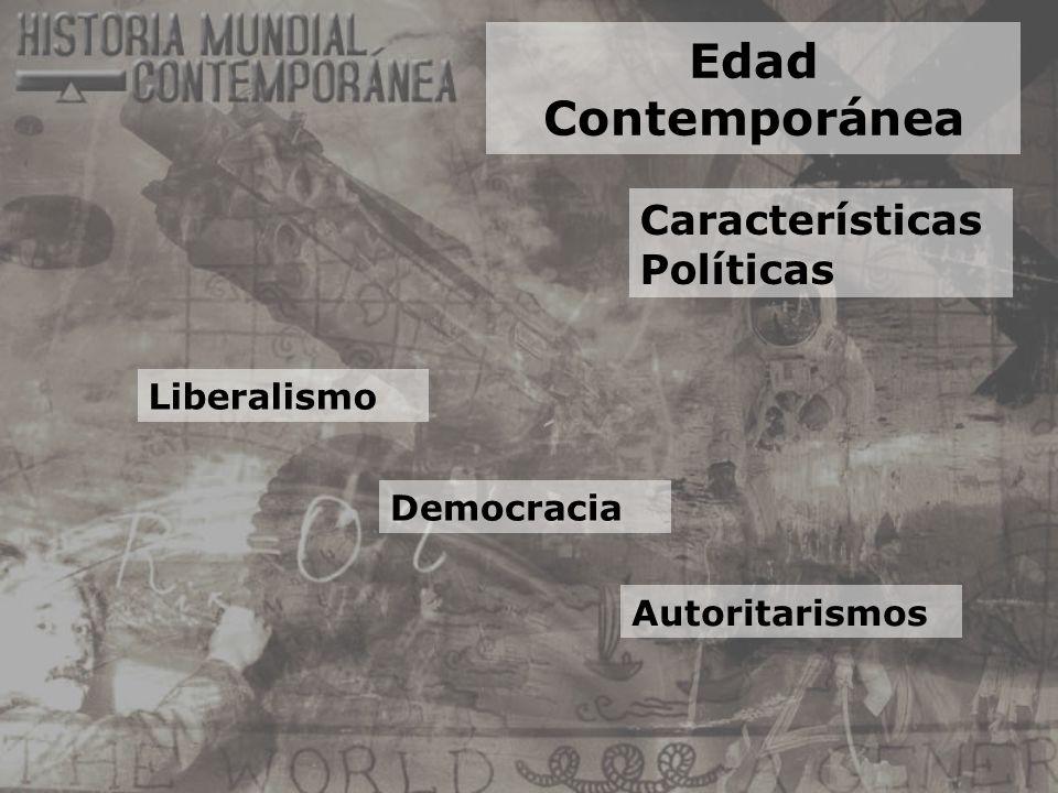Edad Contemporánea Características Políticas Liberalismo Democracia