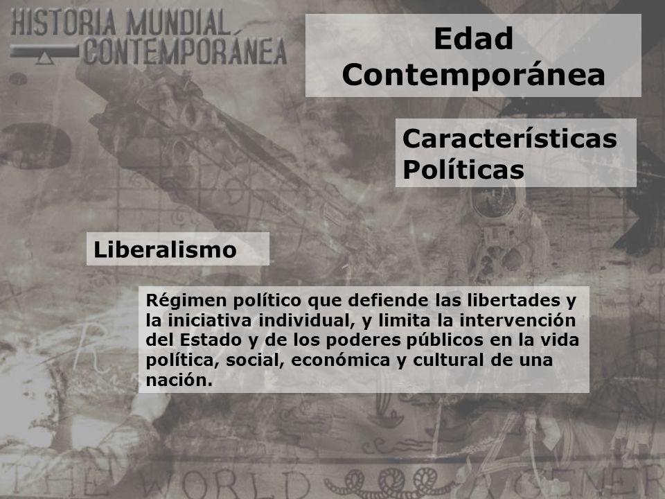 Edad Contemporánea Características Políticas Liberalismo