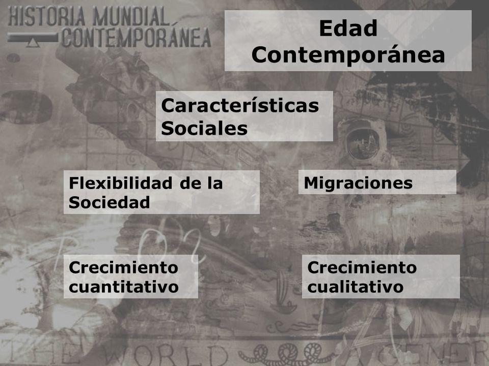 Edad Contemporánea Características Sociales