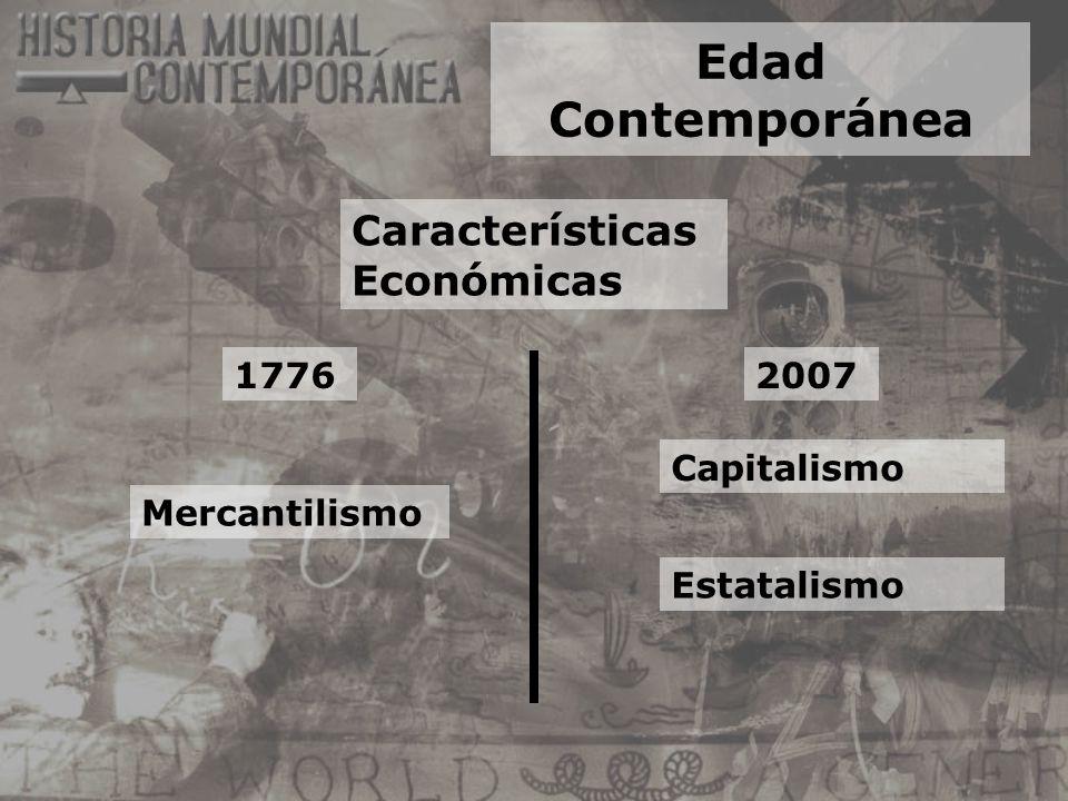 Edad Contemporánea Características Económicas 1776 2007 Capitalismo