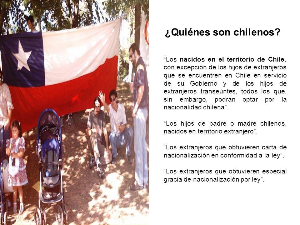 ¿Quiénes son chilenos