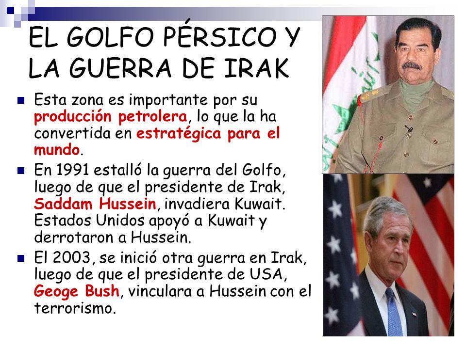 EL GOLFO PÉRSICO Y LA GUERRA DE IRAK