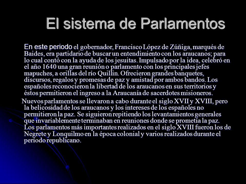 El sistema de Parlamentos