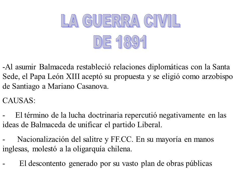 LA GUERRA CIVIL DE 1891.