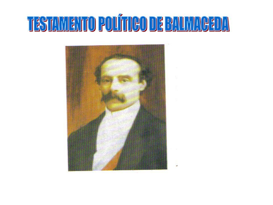 TESTAMENTO POLÍTICO DE BALMACEDA
