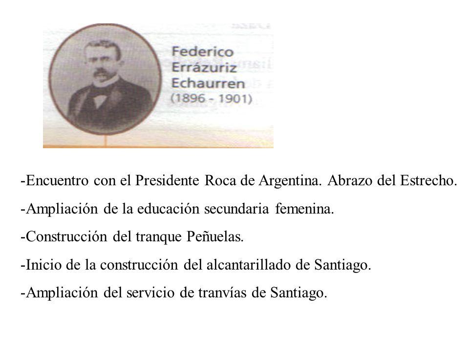Encuentro con el Presidente Roca de Argentina. Abrazo del Estrecho.