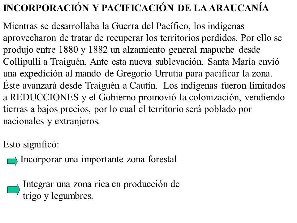 INCORPORACIÓN Y PACIFICACIÓN DE LA ARAUCANÍA