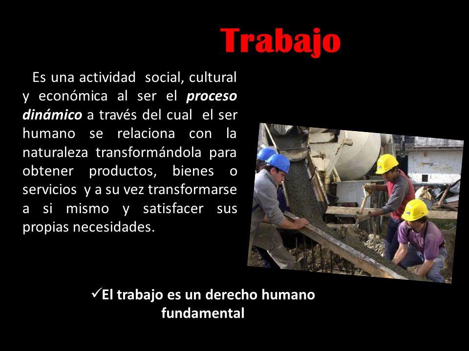 El trabajo es un derecho humano fundamental