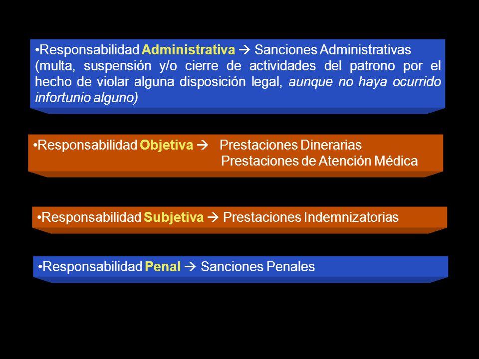 Responsabilidad Administrativa  Sanciones Administrativas