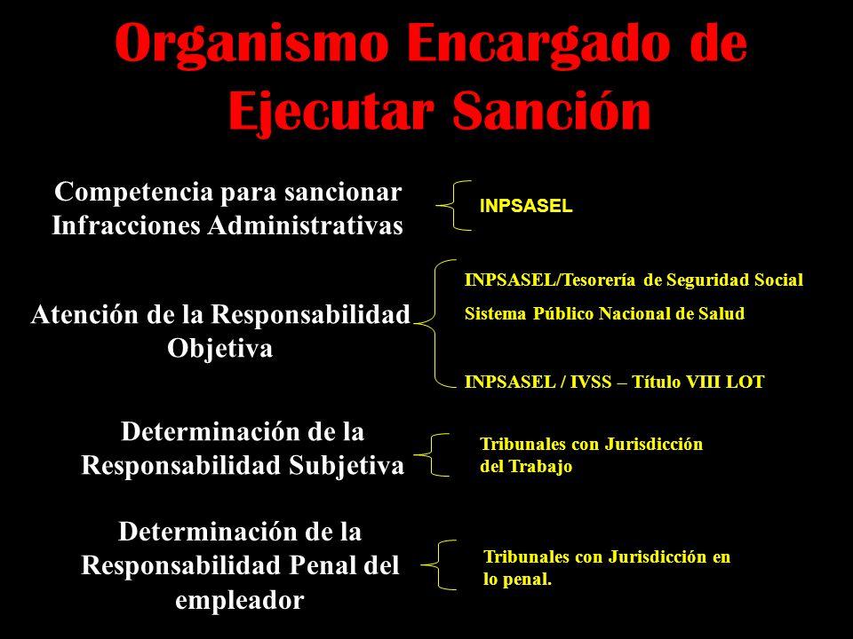 Organismo Encargado de Ejecutar Sanción
