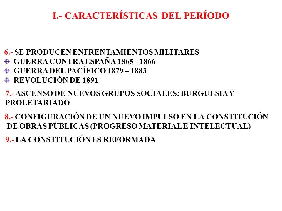 I.- CARACTERÍSTICAS DEL PERÍODO