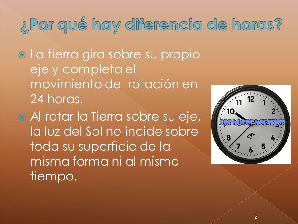 ¿Por qué hay diferencia de horas