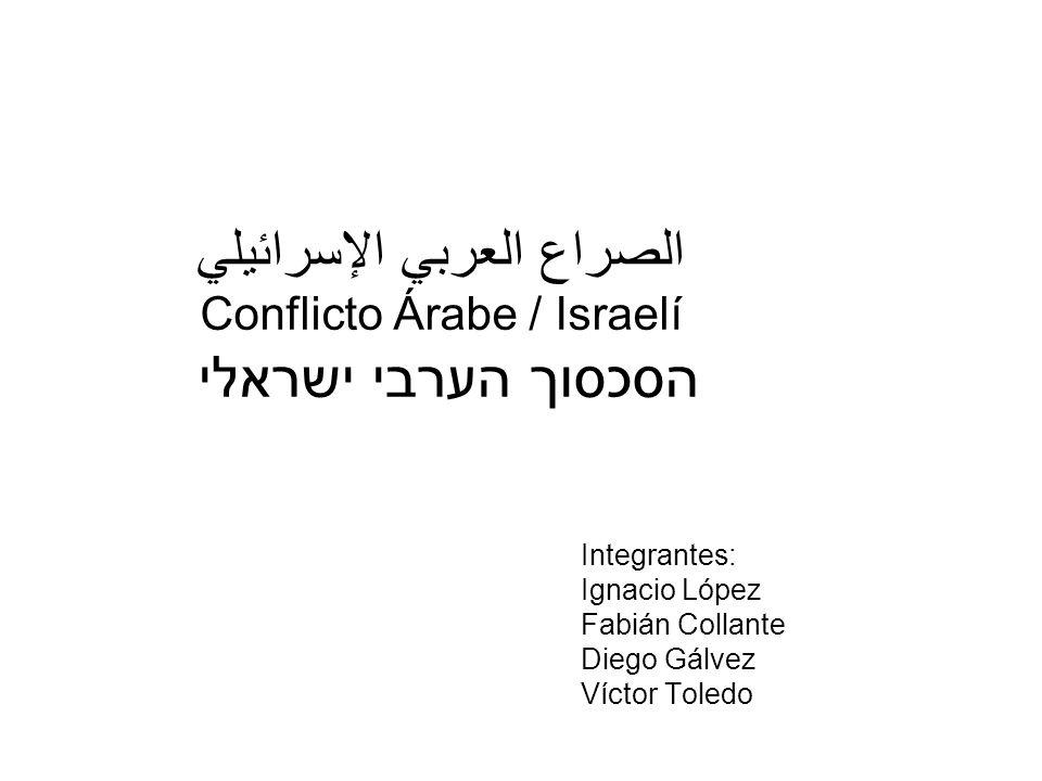 الصراع العربي الإسرائيلي Conflicto Árabe / Israelí הסכסוך הערבי ישראלי