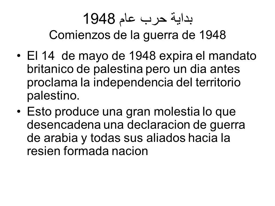 بداية حرب عام 1948 Comienzos de la guerra de 1948