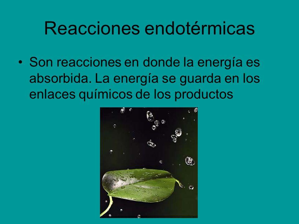 Reacciones endotérmicas