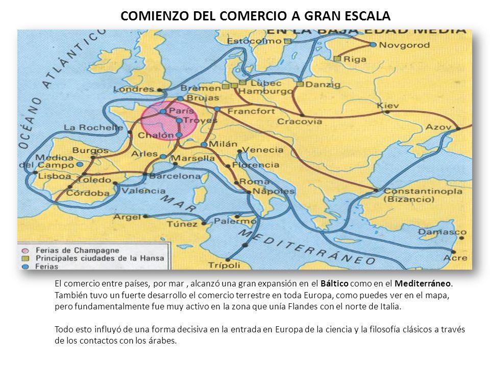 COMIENZO DEL COMERCIO A GRAN ESCALA