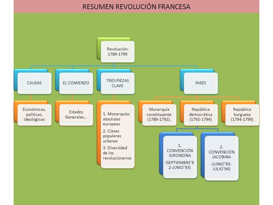 RESUMEN REVOLUCIÓN FRANCESA
