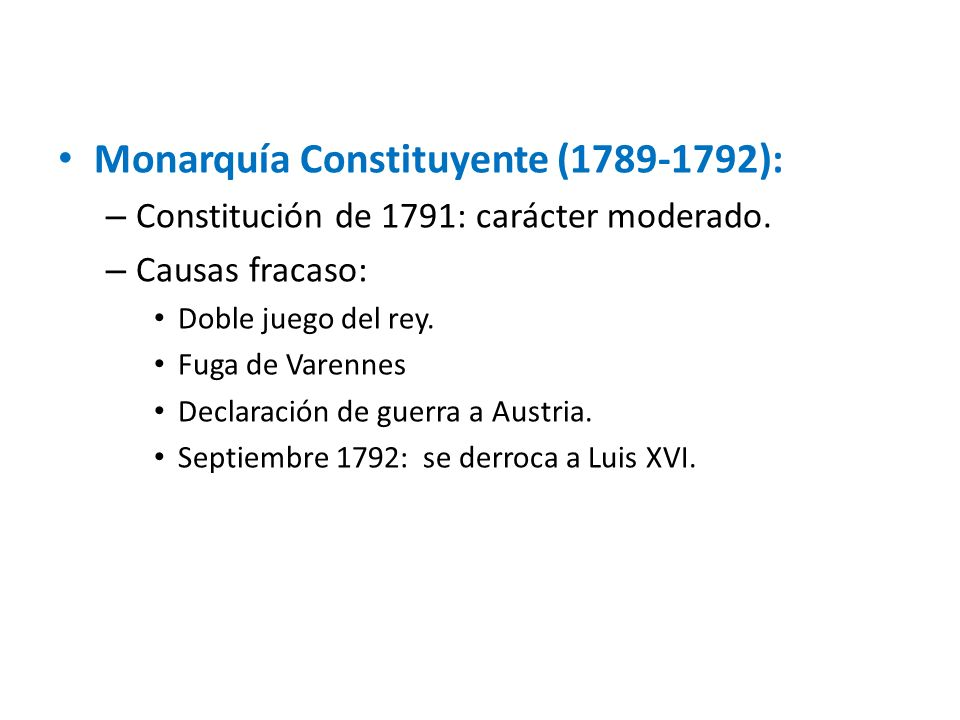 Monarquía Constituyente (1789-1792):