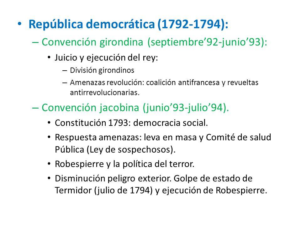 República democrática (1792-1794):