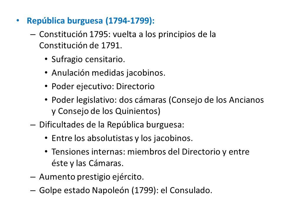República burguesa (1794-1799):