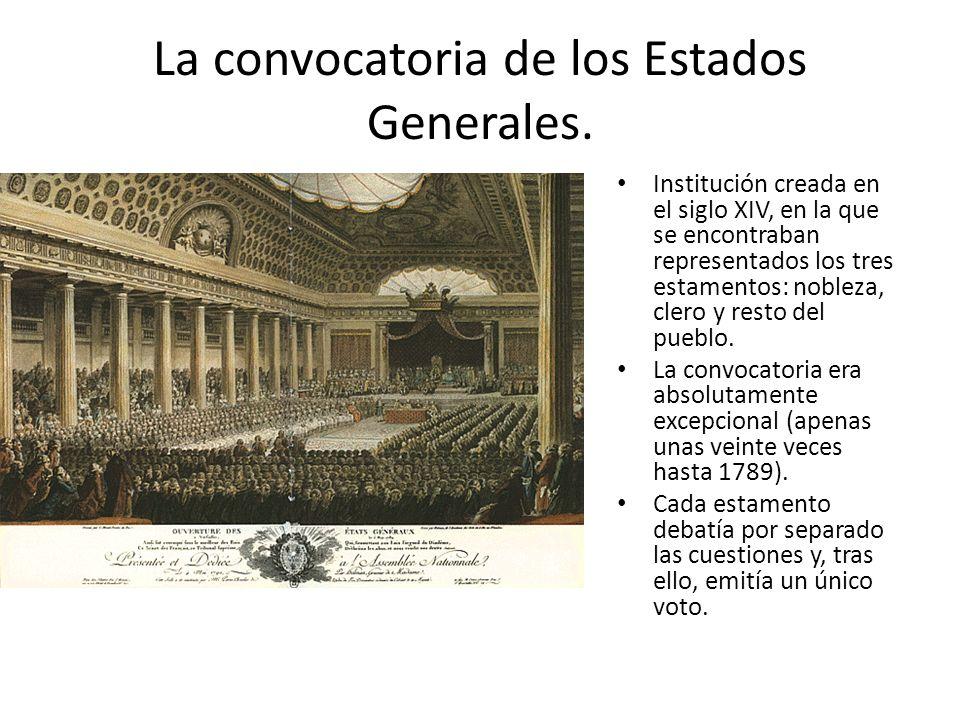 La convocatoria de los Estados Generales.