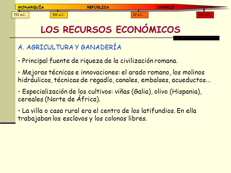 LOS RECURSOS ECONÓMICOS