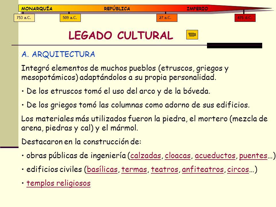 LEGADO CULTURAL ARQUITECTURA