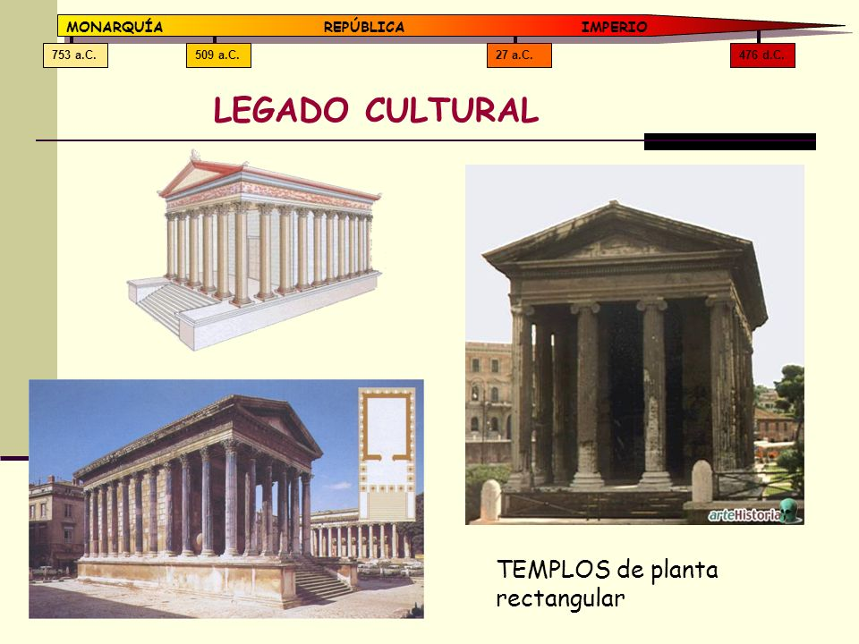 LEGADO CULTURAL TEMPLOS de planta rectangular