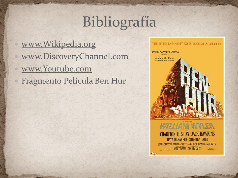 Bibliografía www.Wikipedia.org www.DiscoveryChannel.com