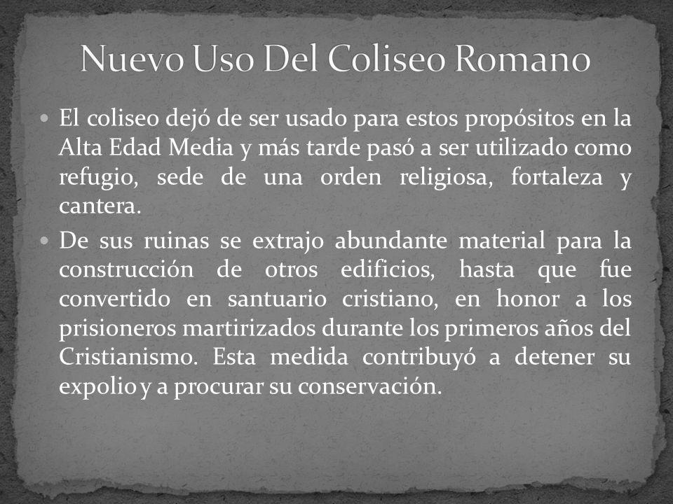 Nuevo Uso Del Coliseo Romano