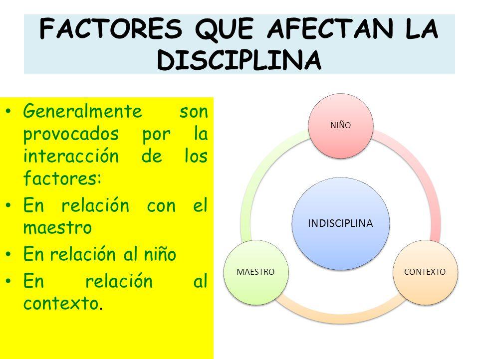 FACTORES QUE AFECTAN LA DISCIPLINA