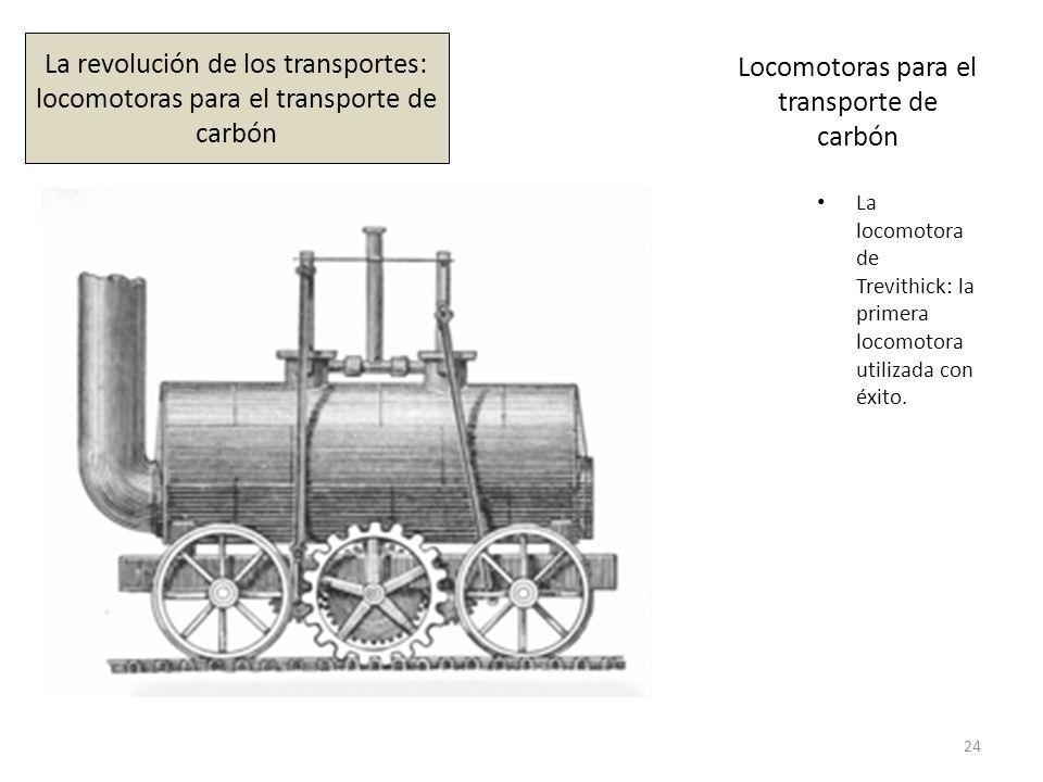 Locomotoras para el transporte de carbón