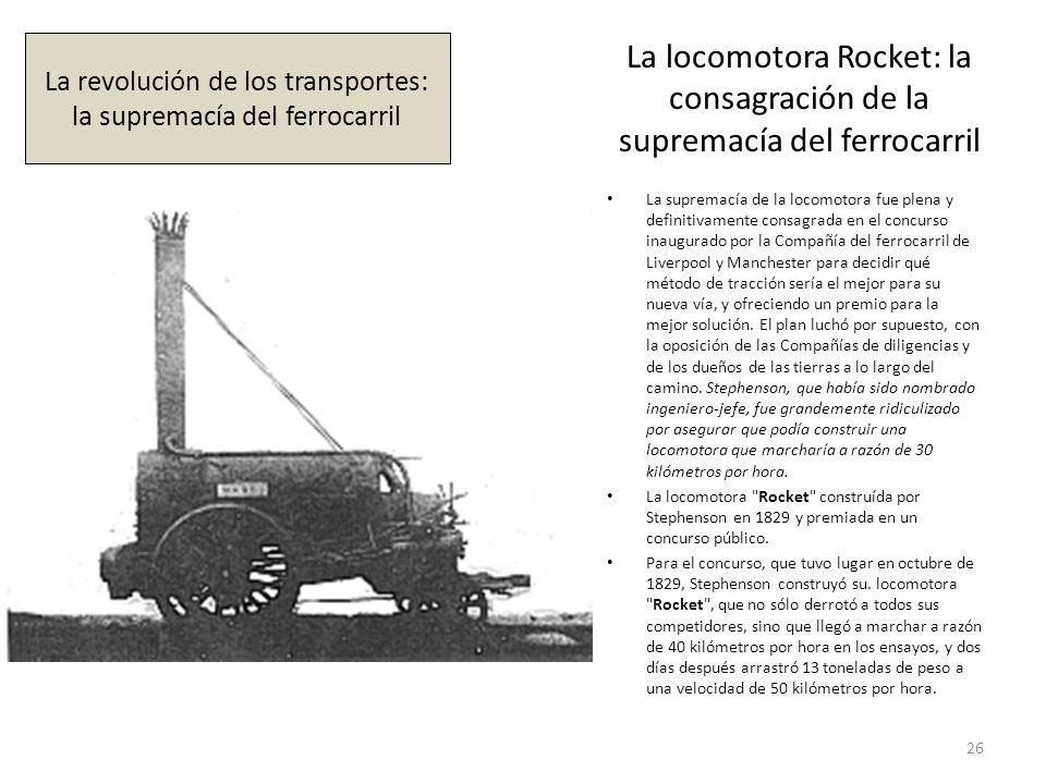 La locomotora Rocket: la consagración de la supremacía del ferrocarril