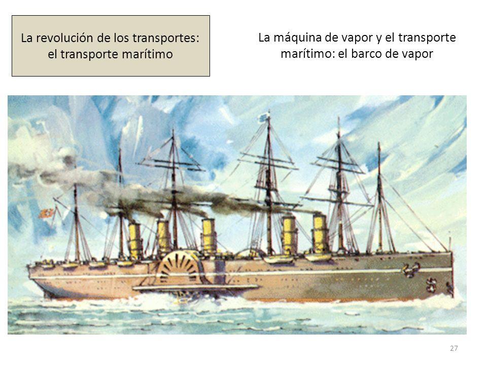 La máquina de vapor y el transporte marítimo: el barco de vapor