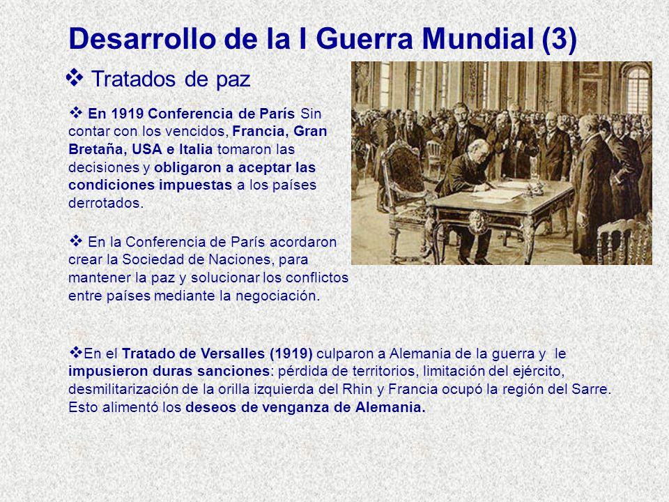 Desarrollo de la I Guerra Mundial (3)