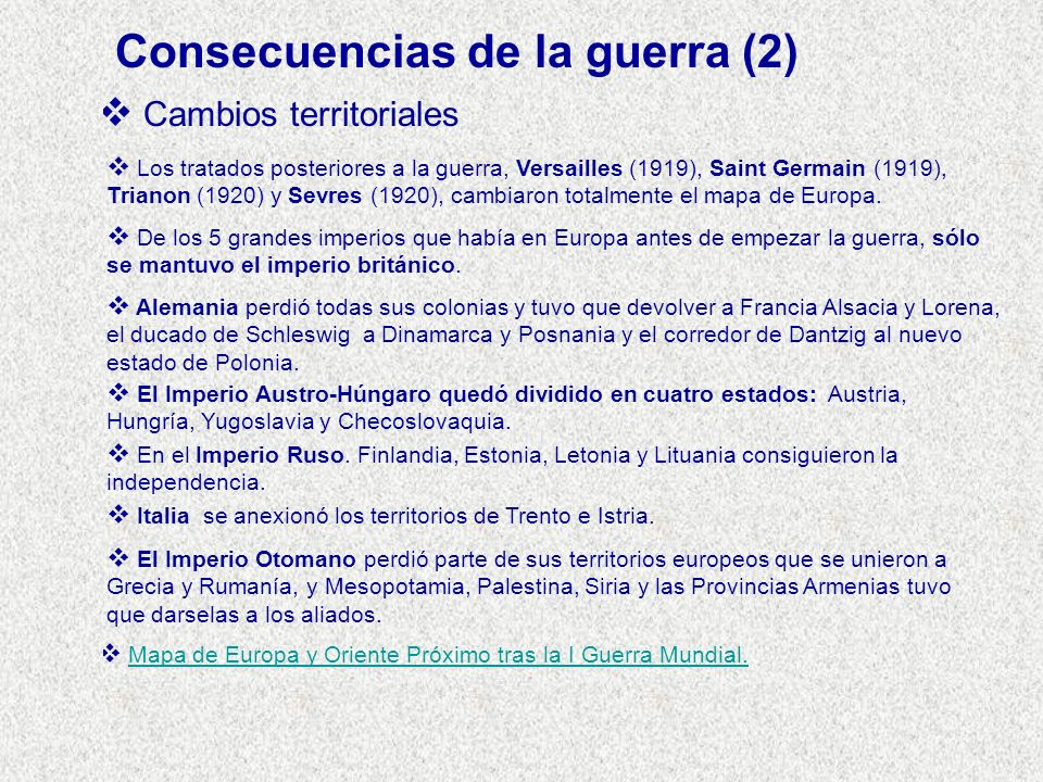 Consecuencias de la guerra (2)