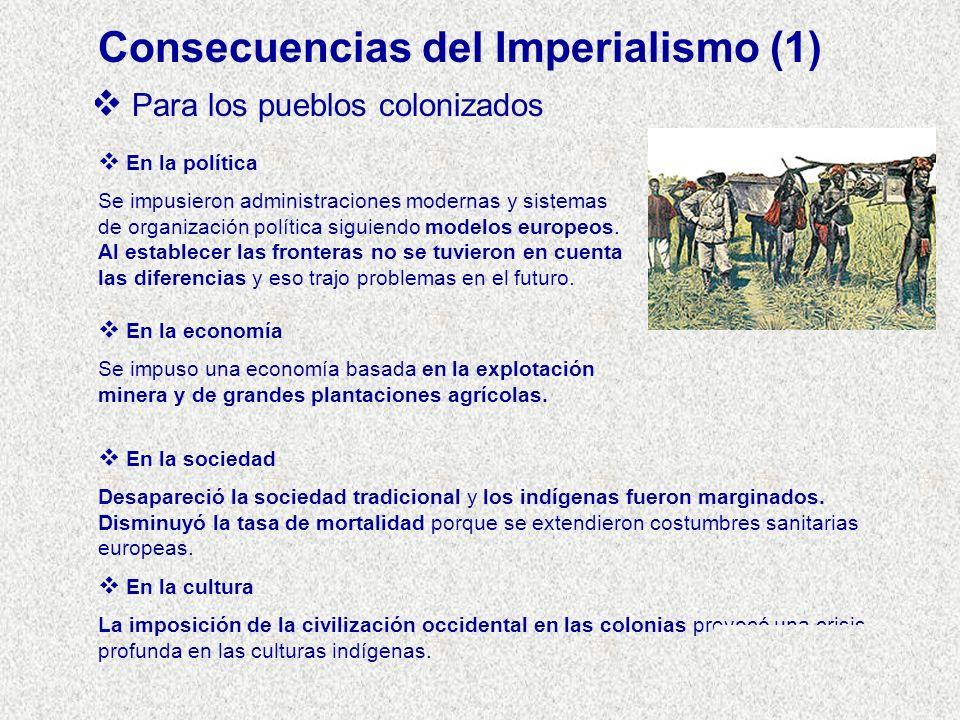 Consecuencias del Imperialismo (1)