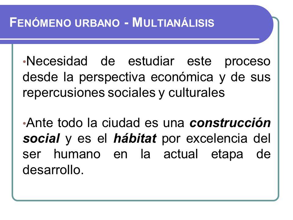 Fenómeno urbano - Multianálisis