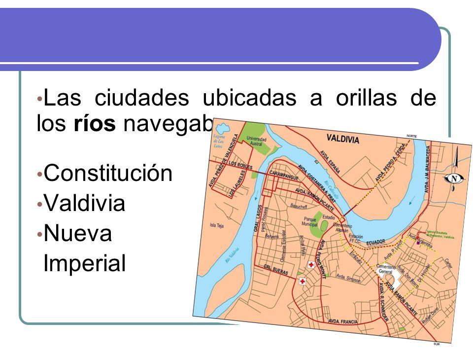 Las ciudades ubicadas a orillas de los ríos navegables