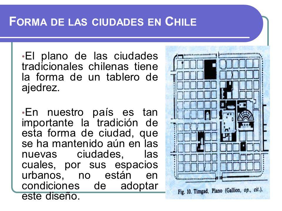 Forma de las ciudades en Chile