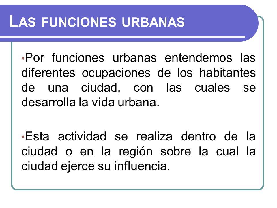 Las funciones urbanas