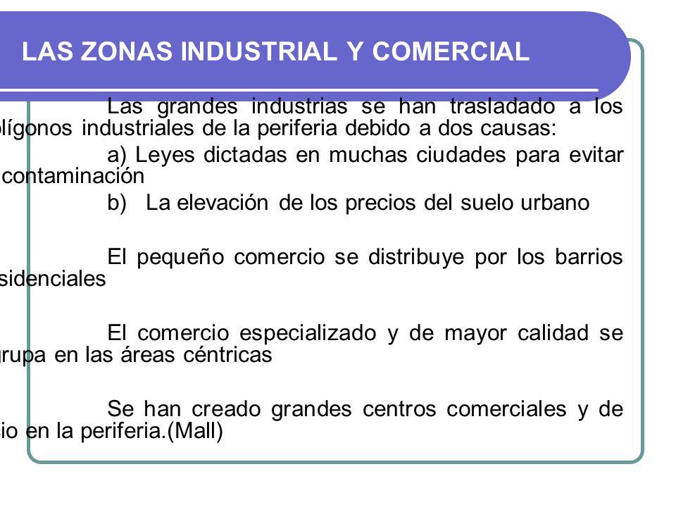 LAS ZONAS INDUSTRIAL Y COMERCIAL