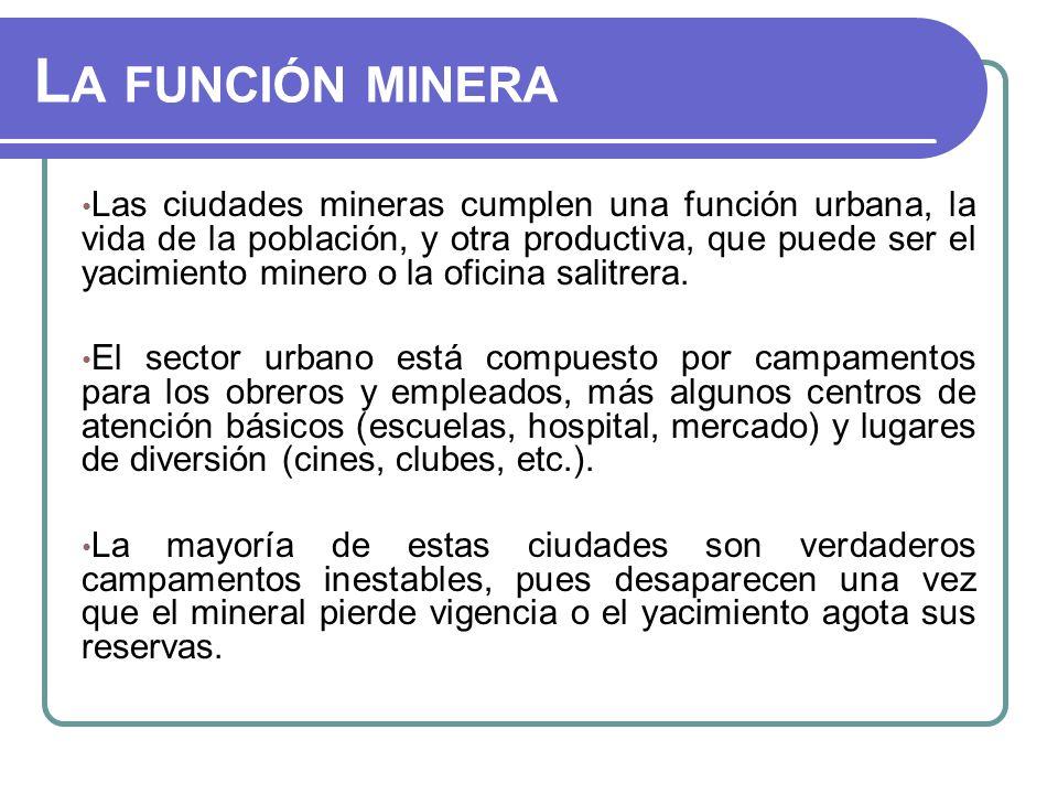 La función minera