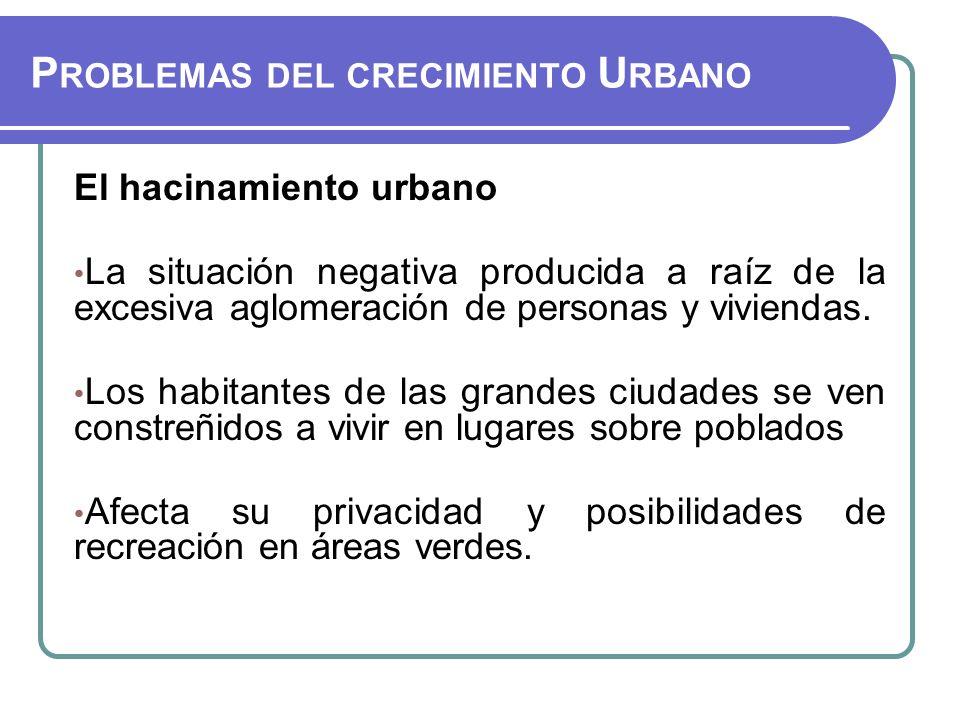 Problemas del crecimiento Urbano