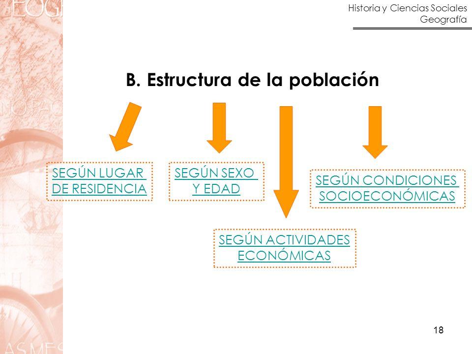 B. Estructura de la población