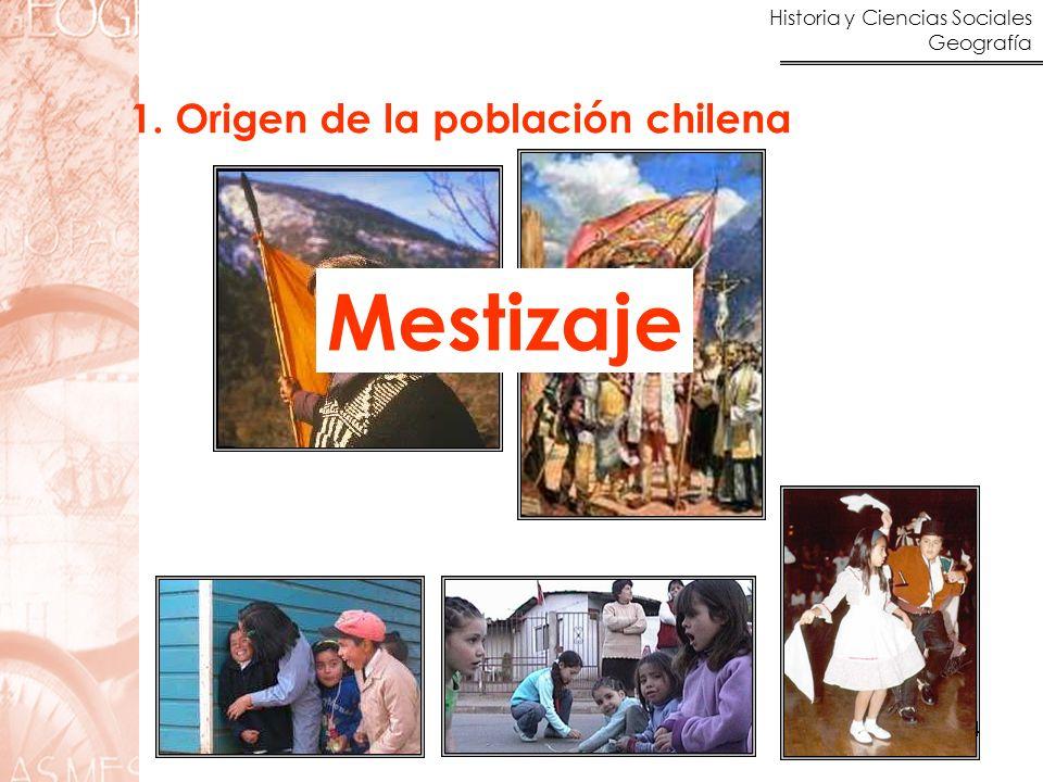 Mestizaje 1. Origen de la población chilena