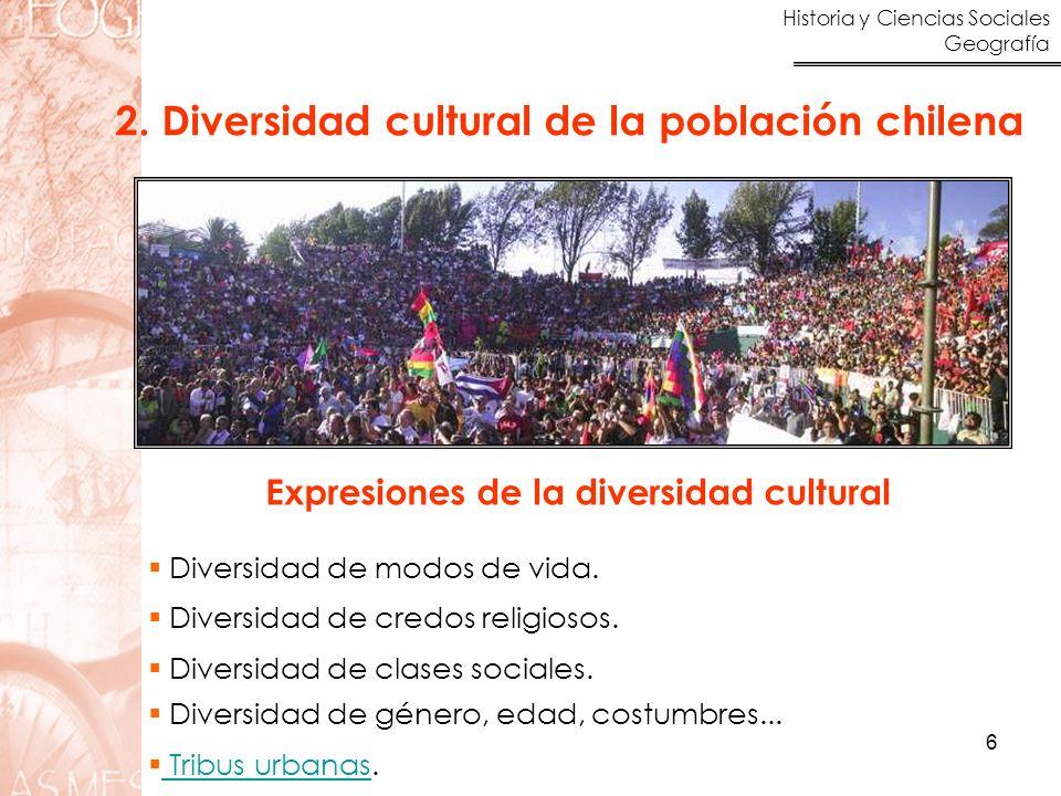 2. Diversidad cultural de la población chilena