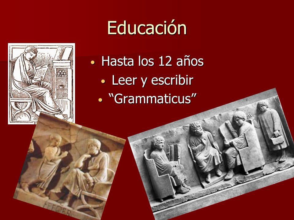 Educación Hasta los 12 años Leer y escribir Grammaticus